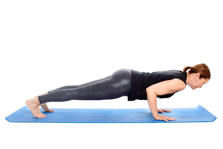 Suzanne – Chaturanga Dandasana (Four-limbed Staff pose)