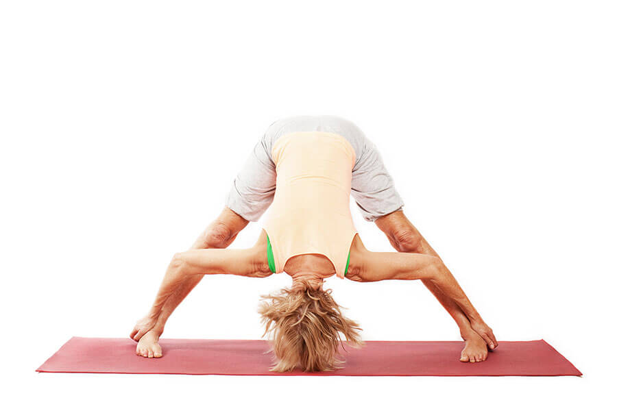 Mia – Prasarita Padottanasana (Spread-feet forward-bend pose)